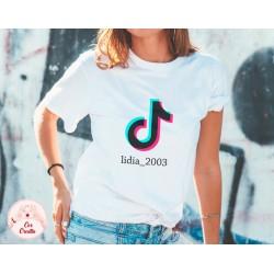 Camiseta Tik Tok personalizada