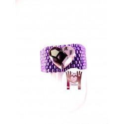 Anillo MY con corazón SW violeta/rosa