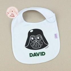 Babero Personalizado Nombre + Darth Vader