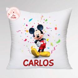 Cojín personalizado Mickey Fiesta