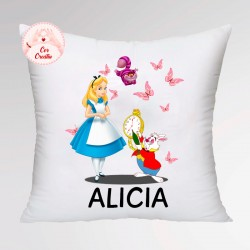 Cojín personalizado Alicia en el País...