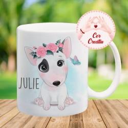 "Taza "" Bull terrier "" personalizada"