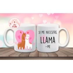 "Taza San Valentin ""Llama"""
