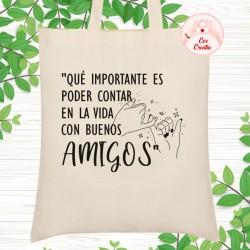 Bolsa de tela ~ Buenos Amigos