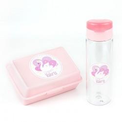 Botella personalizada Cisne Rosa