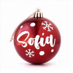 Bola Navidad Rojo personalizada
