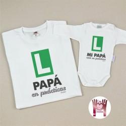 Pack Camiseta+Body Papá en prácticas